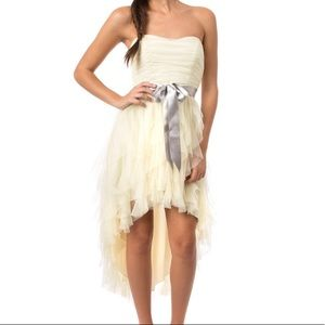 Teeze Me ruffle high low strapless dress